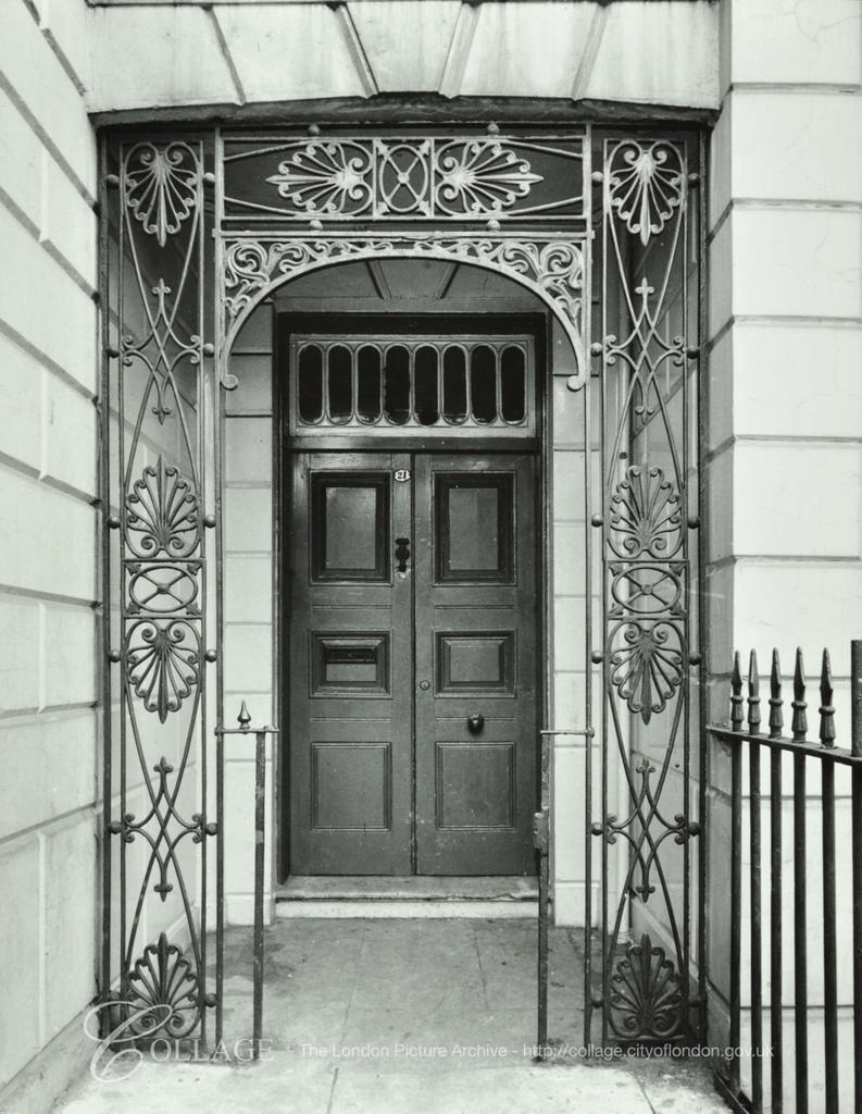 Cloudesley Street Doorway 1959