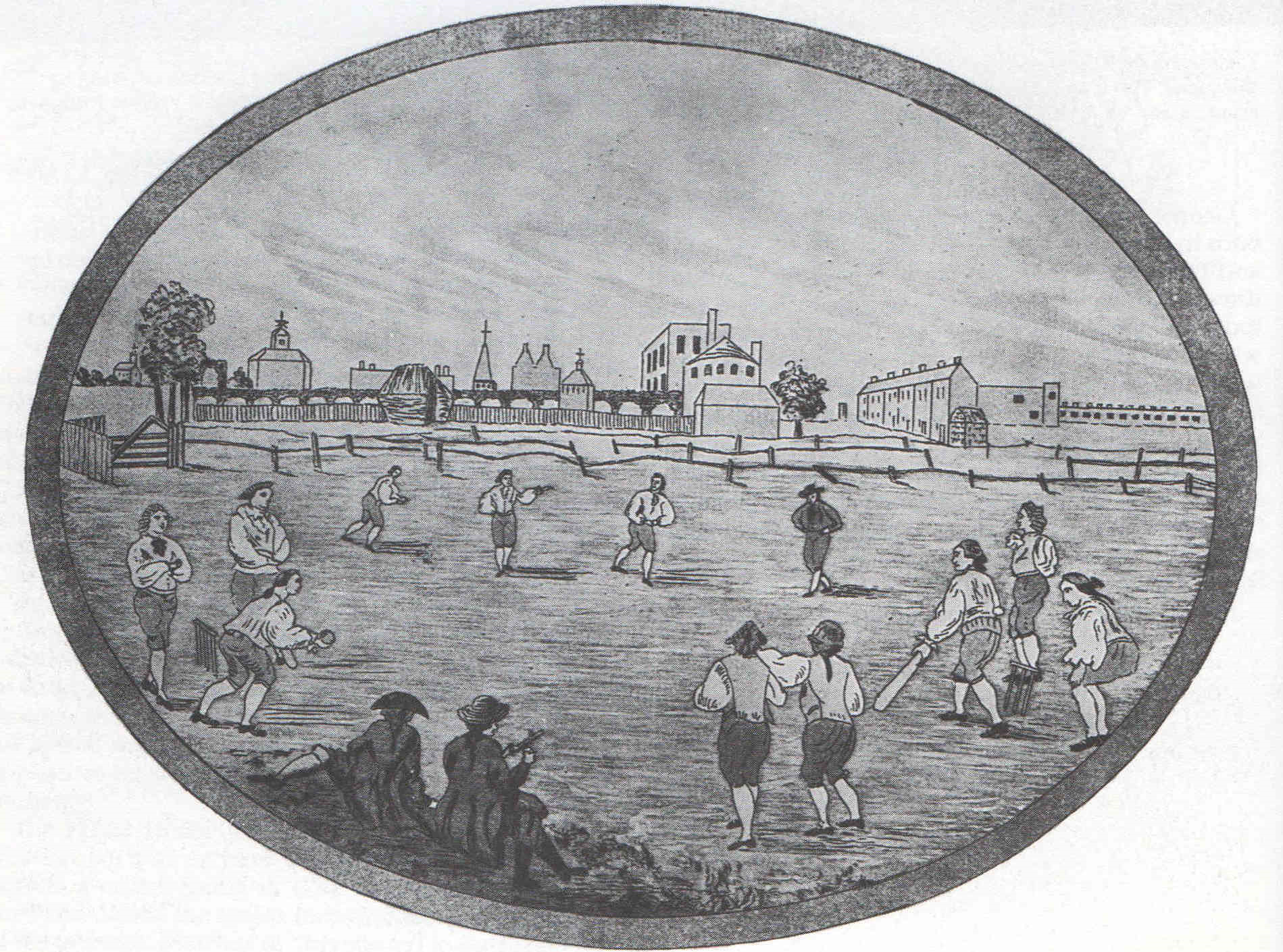 Cricket Match White Conduit House 1788