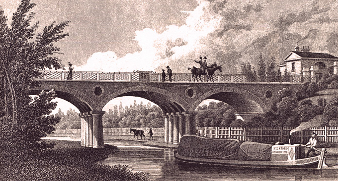 Horse-Drawn Narrowboat Under Macclesfield Bridge, Regents Canal
