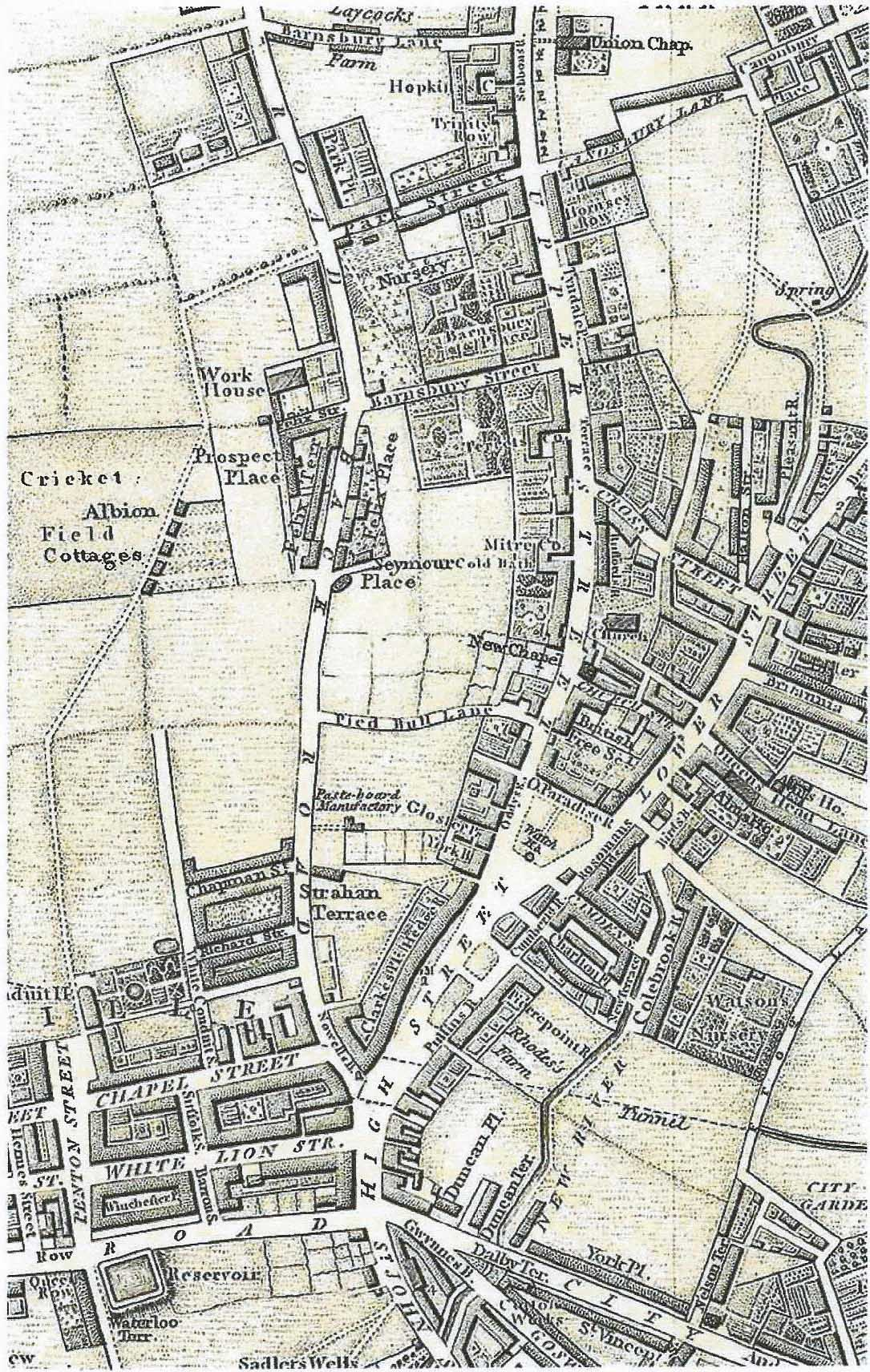 Map 1817, E&B Baker, Extract