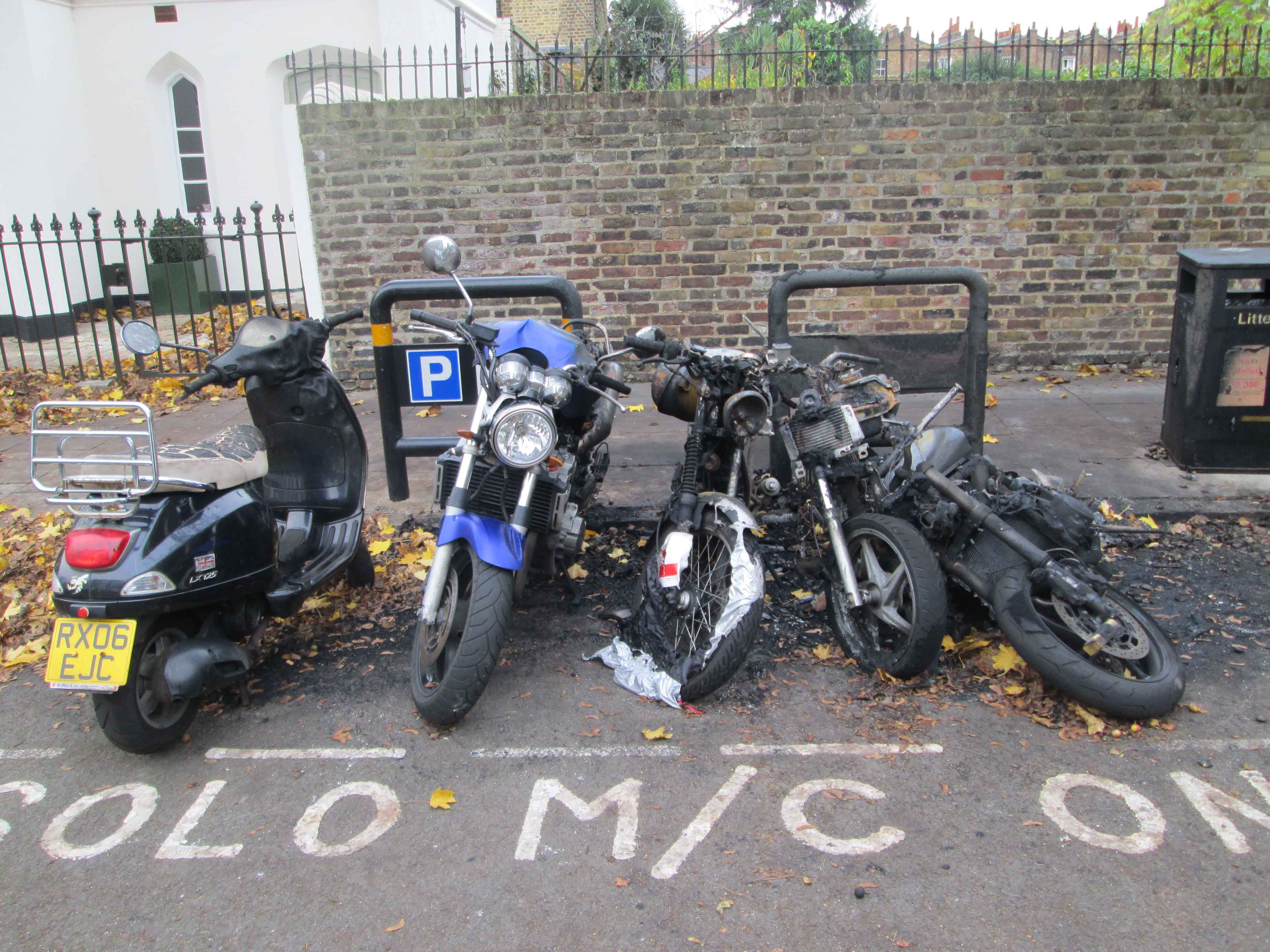Motorbike Arson Cloudesley St
