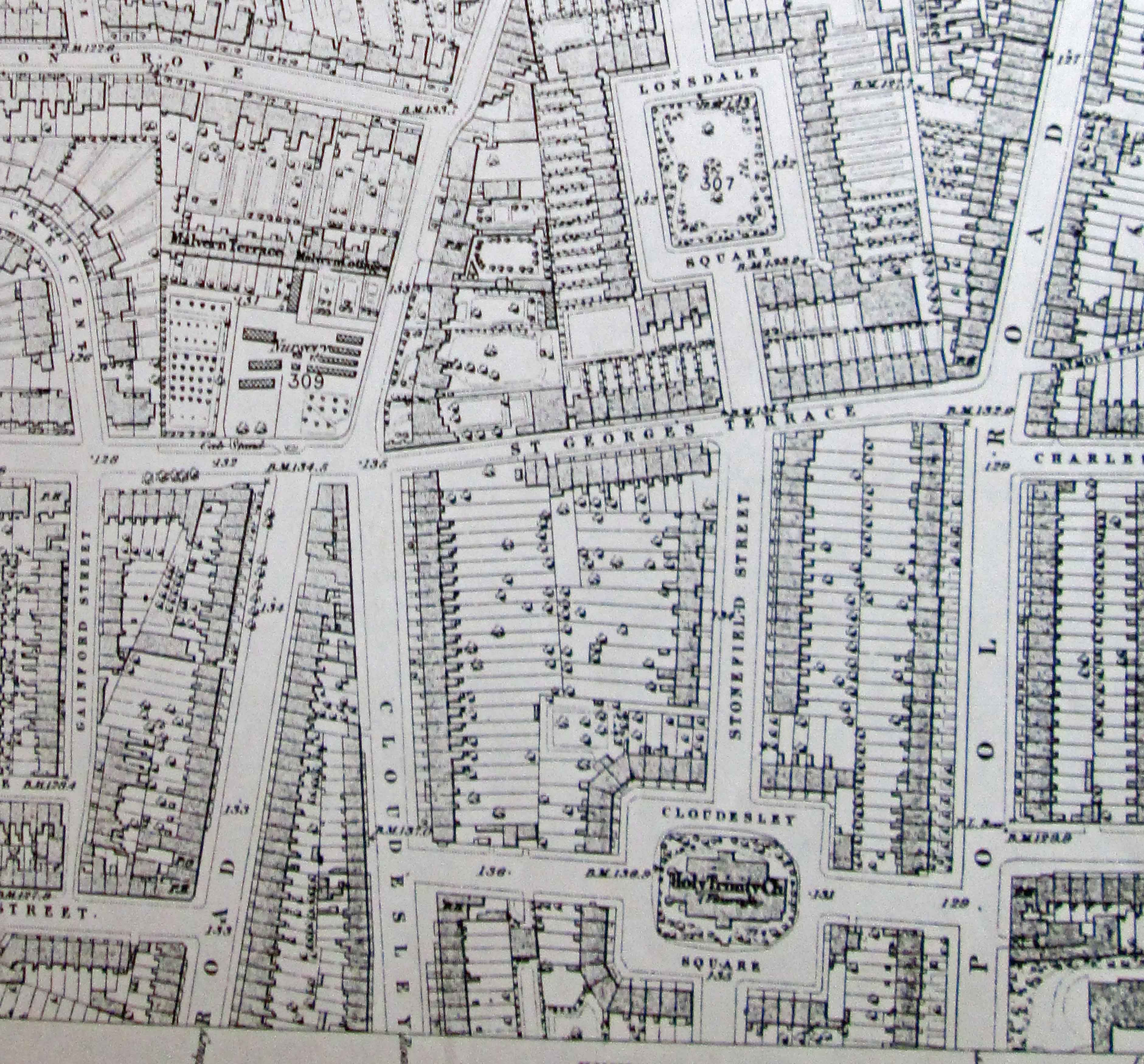 Old Street Map 1871