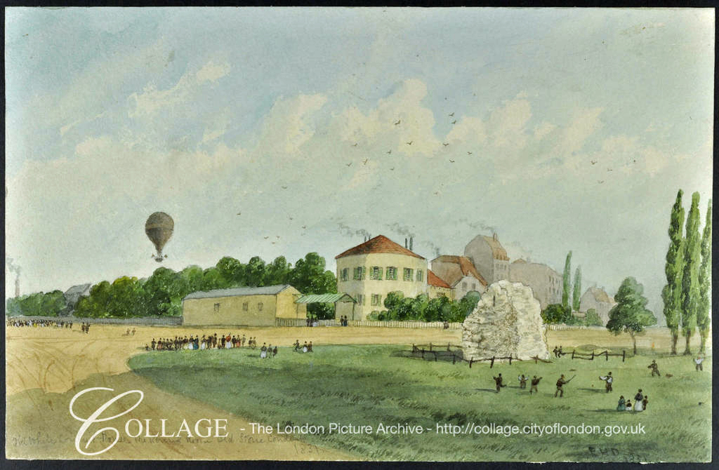 White Conduit House With Balloon